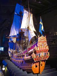A 1:10 scale model of the Vasa, on display in Stockholm, depicts the ship as she appeared in her prime.