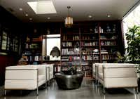 The library at the home of D'Andra Simmons and Jeremy Lock in Dallas. The contemporary home is on the New Life home tour.
