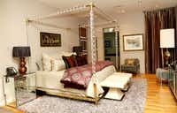 The guest bedroom at the home of D'Andra Simmons and Jeremy Lock in Dallas.