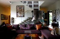 he living room at the home of D'Andra Simmons and Jeremy Lock in Dallas.