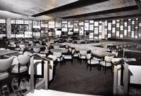 Lubin's mural lined a wall in the glamorous Empire Room supper club of the Statler Hilton in 1956.