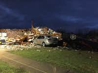 A view of the damage in Ovilla (KXAS-TV)