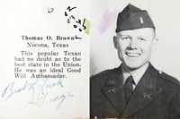 Tom Brown from a 1952 U.S. Army Officers Candidate School yearbook.