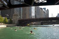 Kayaking is another option to view the city from the Chicago River.