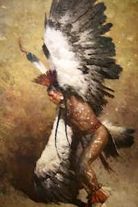 The Briscoe Western Art Museum, San Antonio, Texas. Eagle Dancer Potawatomi, Z. S. Liang (born 1953) 2010, oil