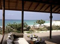 Beach Club at the Amanyara Resorts in the Turks and Caicos Islands.