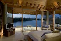 Pavilion Pond of the Amanyara Resorts in the Turks and Caicos Islands.