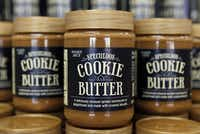 Cookie Butter at Trader Joe's in Plano. The California-based grocery chain has a cult following for its selection of wine, cheese, pastries, dried fruit, nuts, frozen food and other items.