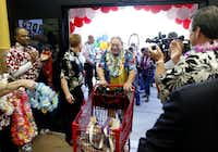 Mike Kupka was the first in line to enter Trader Joe's at the grand opening of their Plano location on September 7, 2012. Kupka made it to Trader Joe's at midnight to beat the crowd, and beat the crowd by 5 hours.