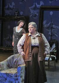 "Elizabeth Futral as Alice B. Toklas and Stephanie Blythe as Gertrude Stein in Opera Theatre of Saint Louis' 2014 production of ""27.""Ken Howard  -  Ken Howard"