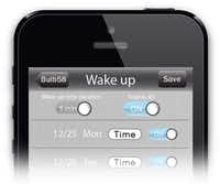 The app, which can control 10 bulbs at a time, can set an alarm to wake you with an increasingly bright light.