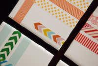 Ceramic tiles covered in washi tape by Cassie Freeman of Plano
