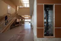 A water pump pipe with gauges will be viewable to students behind glass in the main hallway at Lady Bird Johnson Middle School in Irving.