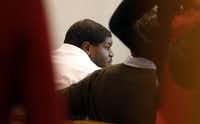 Josh Brent sits in Dallas County 195th District Court on Tuesday for a bond reduction hearing. Brent is charged with intoxication manslaughter after a Dec. 8 crash resulted in the death of teammate Jerry Brown Jr.