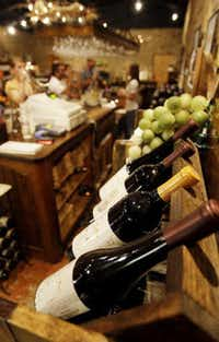 Wine is displayed at the Torre di Pietra winery in Fredericksburg, Texas, Friday, Oct. 17, 2008.