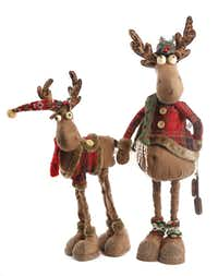 Be a deer: Whimsical reindeer pull Santa's sleigh wearing cotton-plaid jackets, woolly socks and thick boots. Two-legged reindeer (26 inches tall), $38, (they telescope for storage); four-legged deer (20 inches), $24. Other sizes available. Panache at Home, Frisco.