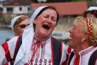 Croatians love to dress up in traditional clothing and perform old-time songs and dances whenever they get the chance. These women are part of a group of singers from the island of Ugljan, the closest island to the mainland city of Zadar.