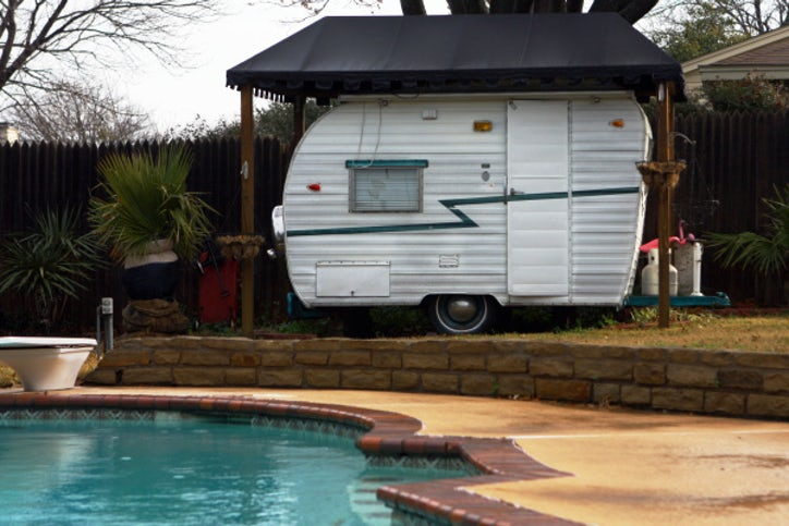 1963 Shasta travel trailer becomes a permanent fixture