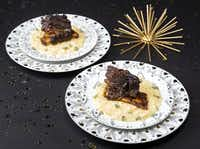 Beer braised short ribs with smoked gouda risotto( Ashley Landis  - Staff Photographer)