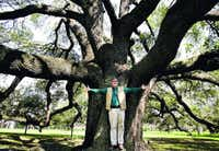 Visualize what you want a young tree to look like  when it reaches maturity, and prune with that vision in mind, advises arborist Tyson Woods (above) with Moore Tree Care.