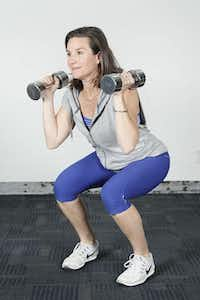 Personal Fitness Coach Angie Russell demonstrates a combination exercise.( Brandon Wade  -  Special Contributor )