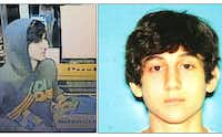 This image provided by the Boston Regional Intelligence Center shows Dzhokhar A. Tsarnaev, one of the suspects in the Boston Marathon bombings. Authorities say Tsarnaev is still at large after he and another suspect  both identified to The Associated Press as coming from the Russian region near Chechnya  killed an MIT police officer, injured a transit officer in a firefight and threw explosive devices at police during their getaway attempt in a long night of violence into the early hours of Friday, April 19, 2013. The second suspect, who has not yet been identified, was killed in a shootout with police. (AP Photo/Boston Regional Intelligence Center)
