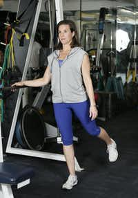 Personal Fitness Coach Angie Russell demonstrates a hip flexor exercise.( Brandon Wade  -  Special Contributor )