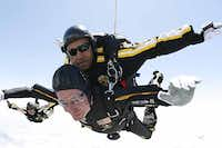 Former President George H.W. Bush announced via Twitter on Thursday that he intendes to make a tandem parachute jump near his summer home in Kennebunkport, Maine, to celebrate his 90th birthday. Bush had vowed to do so after skydiving (above) to celebrate his 85th birthday in 2009.File 2009 - SSG Joe Abeln via AP