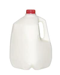 Low-fat milk provides vitamin D and calcium.
