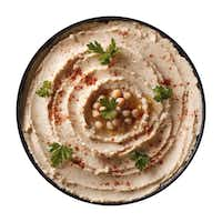 Hummus has lean protein and fiber.