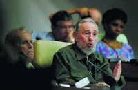 Fidel Castro speaks to Parliament in 2010, his first official appearance before the lawmakers in four years.