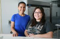 Nancy Castillo (left) and Racene Mendoza hope to open their new vegan bakery, called Reverie Bakeshop, off Coit Road in Richardson sometime in September.