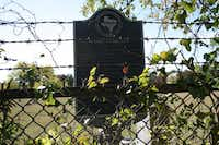 <TypographyTag11>A state historical marker</TypographyTag11> at McCree Cemetery describes that the site dates back to 1866, when Mahulda McCree deeded the first land for the cemetery.(Staff photo by HEATHER NOEL)
