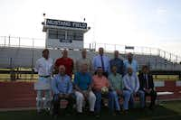 J.J. Pearce High School alumni, who graduated in the mid- to late-1970s, gathered on the school's soccer field on May 1. The group includes (back row) Luis Sifuentes, Wade Saulsberry, Bradley Anderson, Toby Grove, David Musgrove, Tom Gray, (front row) Kelley Meeker, Tommy Jones, Brad Scott, Mike Anderson, Craig Rind and Mike Tannery. After their friend and fellow teammate, Rob Harper, died in January, members of the group began efforts to establish an award and memorial fund in his honor.Staff photo by HEATHER NOEL - neighborsgo