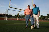 J.J. Pearce alumni Brad Scott and Tommy Jones played soccer with Rob Harper from recreation through high school.Staff photo by HEATHER NOEL - neighborsgo