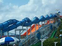 The Blue Niagara at Hurricane Harbor features two enclosed slides that wrap around each other down 77 feet of track.HASH(0x8bf32e4)