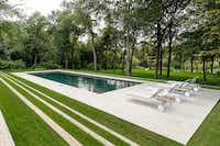 The Dallas architectural firm of Bodron+Fruit did the renovation and designed the pavilion for the new swimming pool.(Courtesy of the Mathews-Nichols Group )