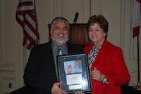 Rey Maldonado and Sandra Chavarria, president and CEO of Communities in Schools Dallas Region.( Photo courtesy Communities in Schools Dallas Region )