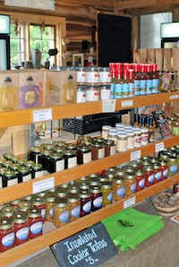 Hickory Nut Gap Farm & Store in Fairview, N.C., features locally produced goods including cheese.