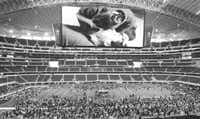 Cowboys Stadium is now home to at least two Guinness World Records - it has the world's largest HDTV, and it was site of the largest-ever CPR training class. Tuesday's session broke the record by nearly 1,000 participants.