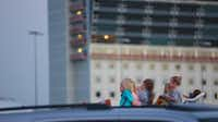 Families used lawn chairs, truck beds and brought their own goodies to munch on as the Texas Motor Speedway was turned into a drive-in movie theater. Families caught a summer showing of the Lego Movie on Saturday, July 26, 2014.( Gregory Castillo  -  Staff Photo )