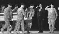 In October, President Barack Obama saluted with Maj. Gen. Daniel Wright at a transfer of remains at Dover Air Force Base in Delaware. Last week, Obama announced that 30,000 more U.S. troops would be sent to Afghanistan, a decision that has reawakened memories of President Johnson's decision to send more troops to Vietnam.