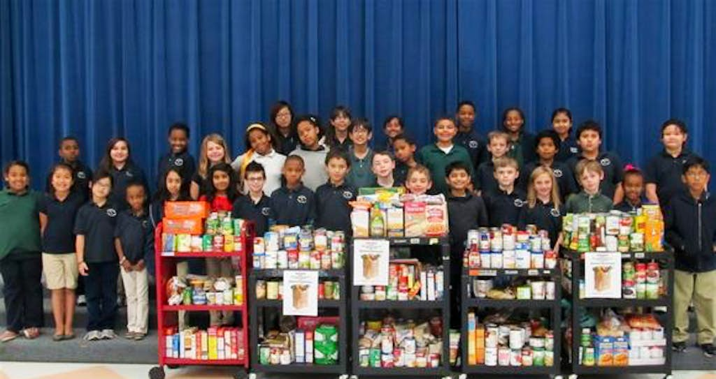 Riverchase Elementary students donate food for nonprofit | Irving | Dallas  News