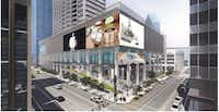 Redevelopment plans call for turning the empty tower into a combination of shops, apartments and office space. (Olympic Property)