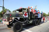 Medical and Surgical Clinic of Irving won best float commercial in Irving's parade.(Photo by STEVE RAINWATER)