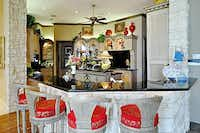 The kitchen and breakfast bar.(Ebby Halliday)