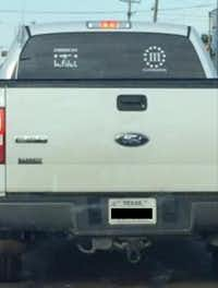 CAIR-DFW says the driver of this truck threatened one of its employees this week.(CAIR-DFW)