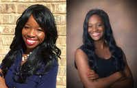 <p>Antonia Okafor (left), an alumna of the Ignite chapter at the University of Texas at Dallas; Rachel Jessie, a current member of the Brookhaven College Ignite chapter</p>(<i>(Contributed Photos)</i>)