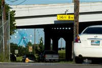 Cars drive south on 2nd Ave. passing under Interstate 30 heading away from the Deep Ellum neighborhood and towards the Fair Park area on June 17, 2016 in Dallas.(Ting Shen/The Dallas Morning News)