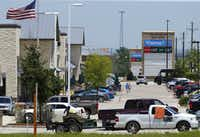 'Big Box' development with chain stores and restaurants have sprung up along Hwy. 380 in the small Denton County town of Cross Roads, Texas, Wednesday, June 8, 2016. (Tom Fox/Staff Photographer)